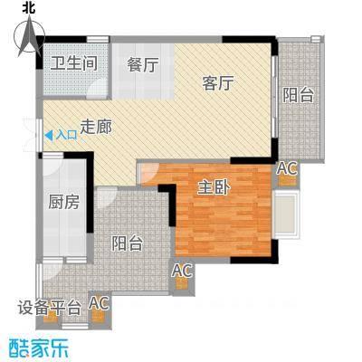 远大生态风景93.00㎡D1号楼(面积9300m户型