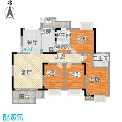 世纪城龙佑苑148.00㎡面积14800m户型