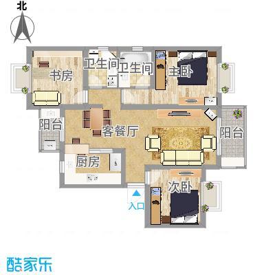 好日子大家园套内89.4P三房二厅豪华打造Mediterraneum家居风小