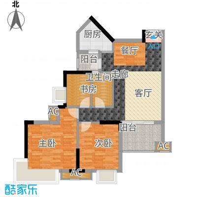 香市1号92.00㎡7-11栋标准层0面积9200m户型