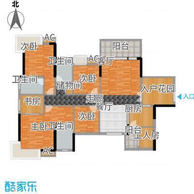 香市1号159.00㎡3-4栋标准层1单元面积15900m户型