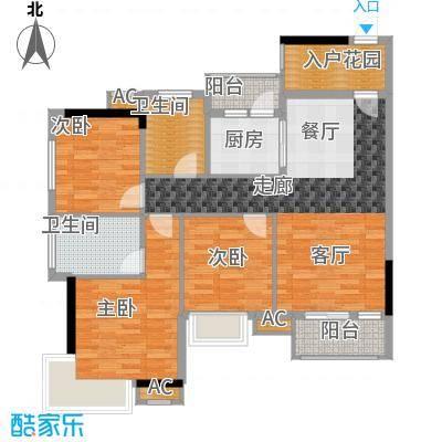 香市1号102.00㎡3栋1单元0204面积10200m户型
