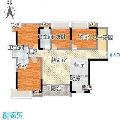 伟隆国际花园118.00㎡1栋01、04户面积11800m户型