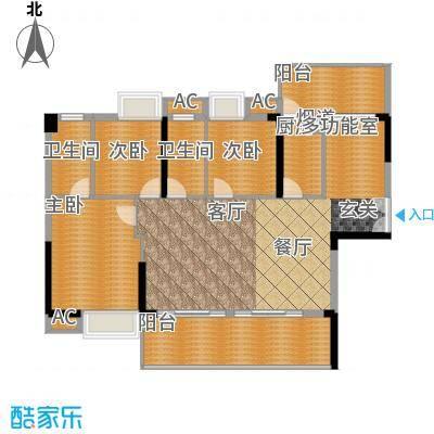 荣爵馆103.24㎡9-11栋5-15奇数层面积10324m户型