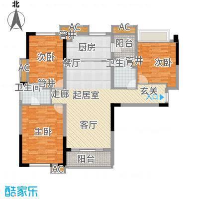 万科松山湖悦137.00㎡KY2栋标准层面积13700m户型
