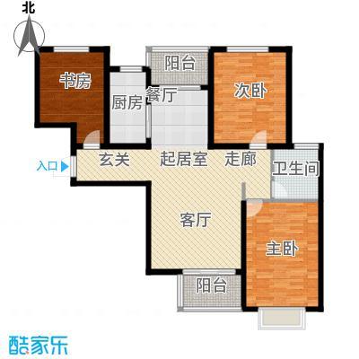 塔元庄园滹沱半岛4号楼D户型