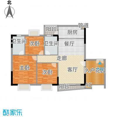 狮子洋1号138.54㎡9-11栋标准层B面积13854m户型