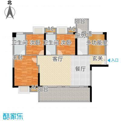 荣爵馆100.63㎡10栋4-16偶数层1单面积10063m户型