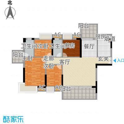 荣爵馆136.46㎡9、11栋4-16偶数层面积13646m户型