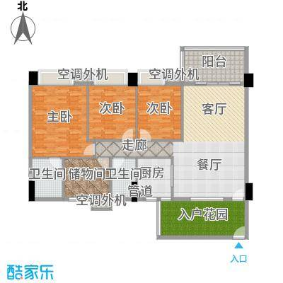地王广场翰林165.00㎡一单元标准面积16500m户型