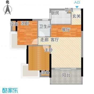 滨江公馆幸福ID70.59㎡17栋2-17面积7059m户型