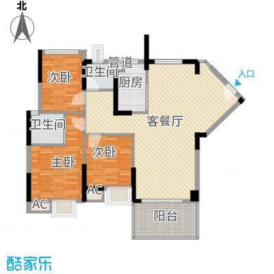 滨江公馆宾仕82.77㎡12栋2单元标面积8277m户型