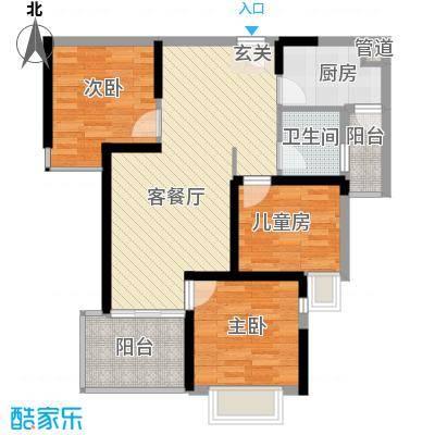 滨江公馆宾仕90.04㎡12栋1/2单元面积9004m户型