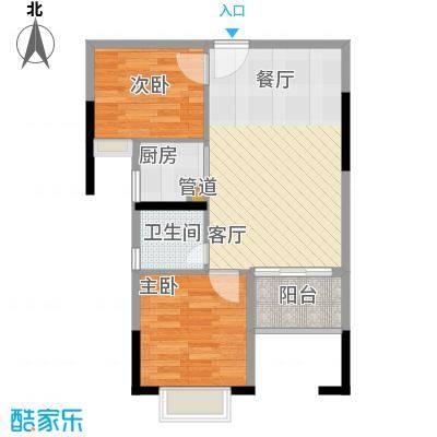 滨江公馆幸福ID51.92㎡17栋2-17面积5192m户型