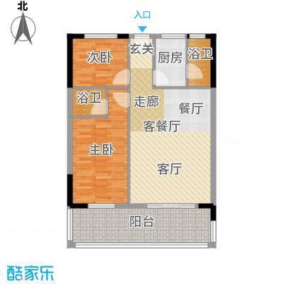 丽湾花园89.43㎡单张BE座面积8943m户型