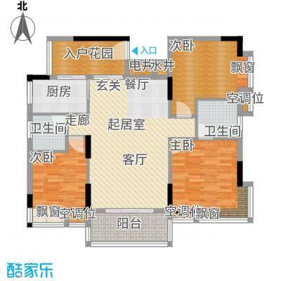 迎宾豪苑114.10㎡1栋3单元标准层面积11410m户型