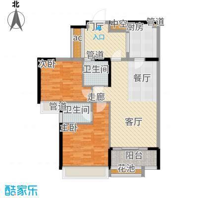 天御99.28㎡2号楼2-28层02、03号面积9928m户型