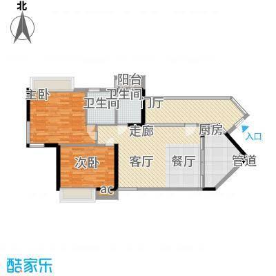 天御95.86㎡5号楼2-28层01、06号面积9586m户型