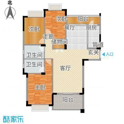 水岸豪庭125.84㎡23、26幢(301+面积12584m户型