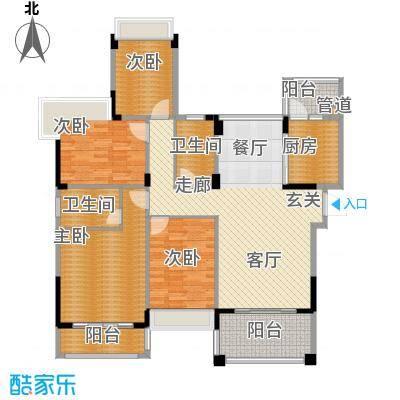 水岸豪庭137.51㎡24幢面积13751m户型