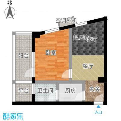 豪岗公寓44.77㎡面积4477m户型
