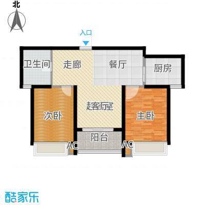 中惠新城86.00㎡面积8600m户型