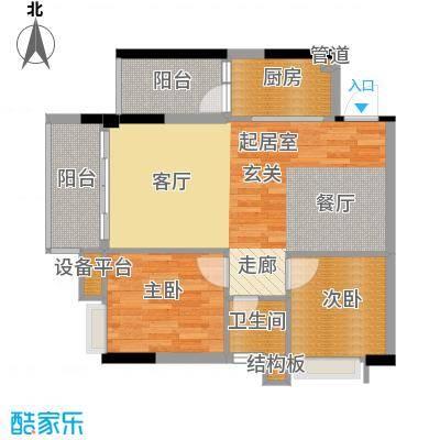 九龙1号78.00㎡C栋标准层05面积7800m户型