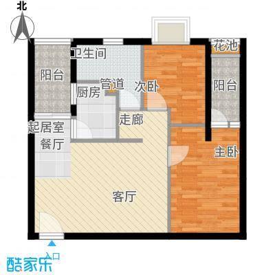 东田百达中心75.89㎡商住楼标准面积7589m户型