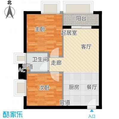 东田百达中心68.33㎡商住楼标准面积6833m户型