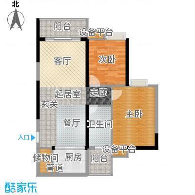 九龙1号93.00㎡C栋标准层03面积9300m户型