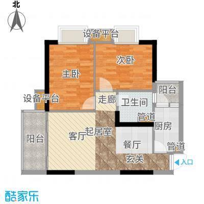 九龙1号73.00㎡C栋标准层01面积7300m户型