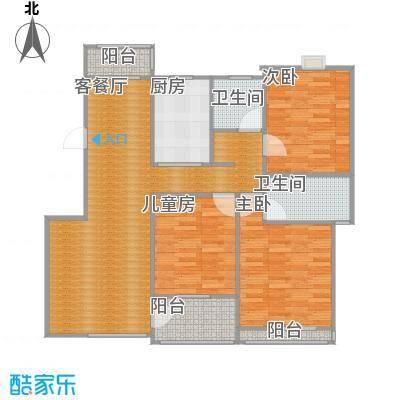 丽景雅苑122方C3户型三室两厅(原图)
