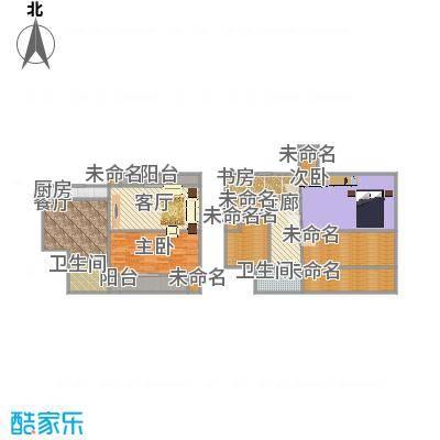 A户型复式楼127平三室两厅