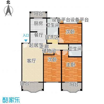 杨思水境园132.00㎡房型: 三房; 面积段: 132 -140.3 平方米;户型
