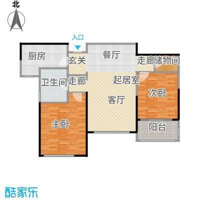 花木绿城锦绣兰庭9B户型2室1卫1厨