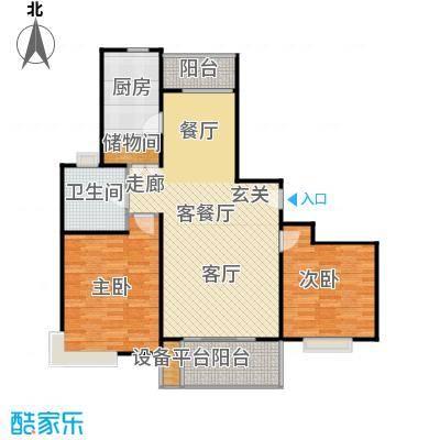 秀康新城康桥月苑2室2厅1卫106平米全南户型
