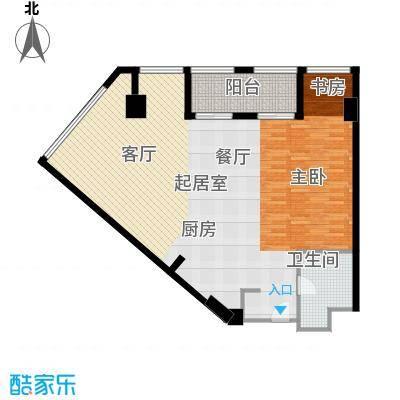 上海鸿音广场D户型1卫