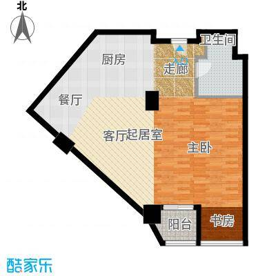 上海鸿音广场C户型1卫