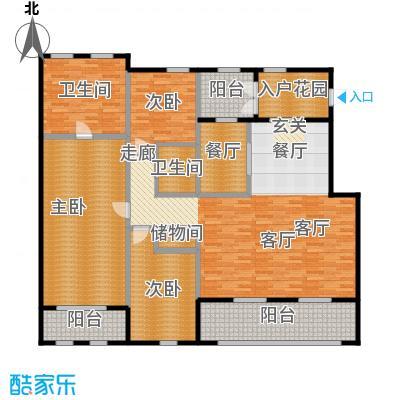 绿城・玉兰花园・臻园189.00㎡B2户型3室2厅2卫