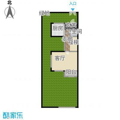 万科第五园A-nd地上一层户型1厅1卫1厨