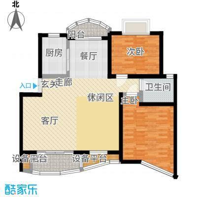 上南翡翠苑90.00㎡房型: 二房; 面积段: 90 -120 平方米;户型