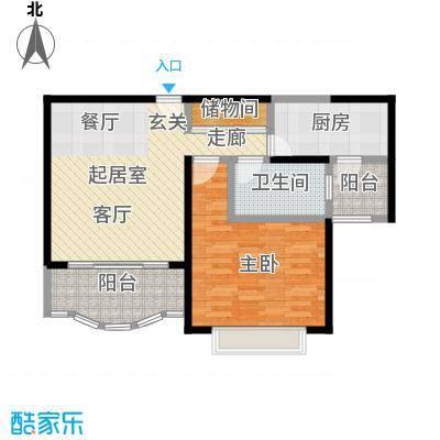 胡姬花园二期70.00㎡房型: 一房; 面积段: 70 -80 平方米; 户型