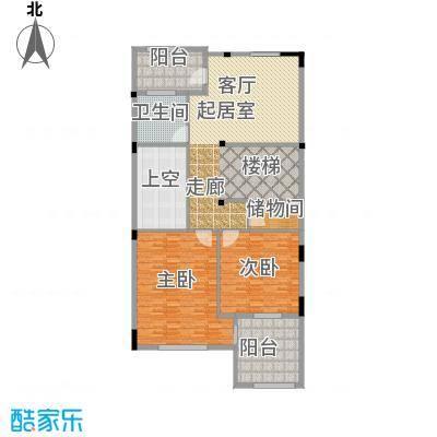 长泰东郊御园B2二层户型2室1卫