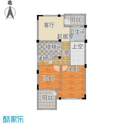 长泰东郊御园D2二层户型2室1卫