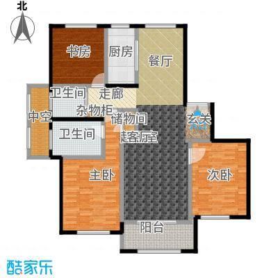 宝华海尚郡领户型3室2卫1厨