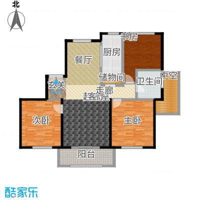 宝华海尚郡领户型3室1卫1厨