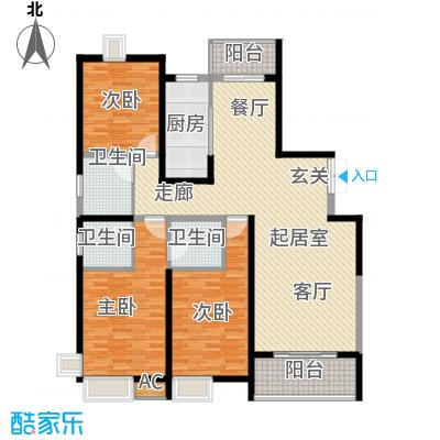 中星怡景花园150.00㎡房型: 三房; 面积段: 150 -160 平方米;户型