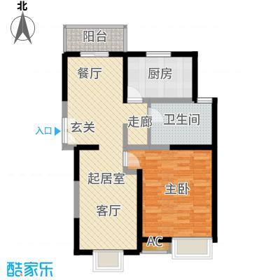 中星怡景花园70.00㎡房型: 一房; 面积段: 70 -80 平方米;户型