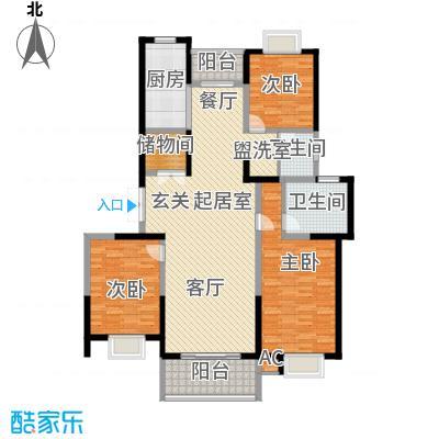 中星怡景花园140.00㎡房型: 三房; 面积段: 140 -150 平方米;户型