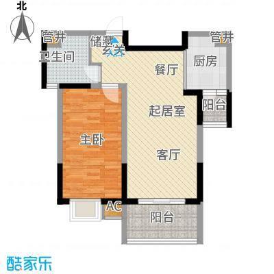 中星怡景花园60.00㎡房型: 一房; 面积段: 60 -70 平方米;户型